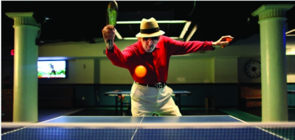 Old Age Table Tennis Player